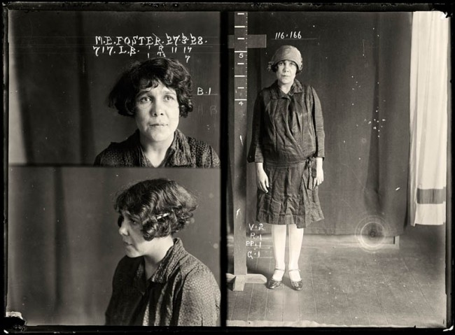 May Ethel Foster, 27 March 1928 May Foster worked with a male accomplice to break into numerous houses and steal the contents. She had previous convictions for vagrancy, failing to appear in court and receiving stolen goods. She was sentenced to six months with hard labour. Aliases: May Saunders, Hopkins. DOB: 19 September 1901. Criminal associate: Albert Roy Callaway (28).