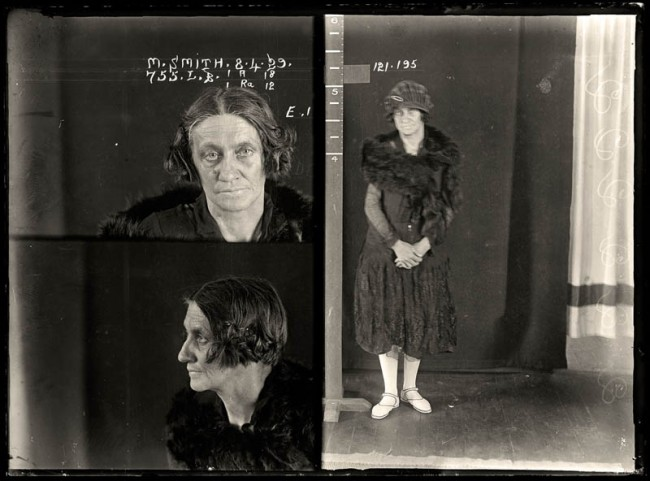 May Smith, 8 April 1929 May Smith, alias 'Botany May', was an infamous drug dealer. She once chased policewoman Lillian Armfield with a red-hot iron to avoid arrest. Smith was sentenced to 10 months with hard labour. DOB: 1880.