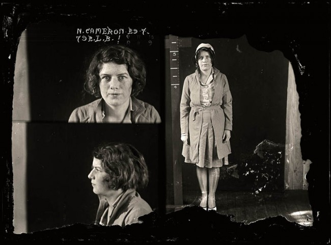Nellie Cameron, 29 July 1930 Nellie Cameron was one of Sydney's best-known, and most desired, prostitutes. Lillian Armfield, Australia's first policewoman, said Cameron had an 'assured poise that set her apart from all the other women of the Australian underworld'. Aged 21.