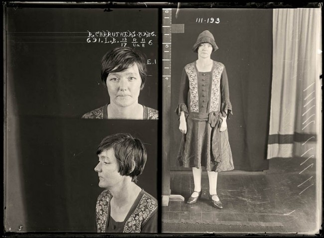 Ruth Carruthers, 7 September 1926 Convicted of false pretences. Ruth Carruthers went on a criminal spree in 1926, using the art of persuasion to obtain goods and money from hapless shopkeepers. She was eventually convicted on four charges of false pretences and sentenced to six months at Long Bay. Aged 28.