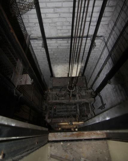 The main lift of Hotel Pripyat