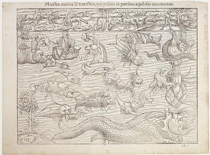 unicorns serpents and mermaids medieval sea monsters. Black Bedroom Furniture Sets. Home Design Ideas
