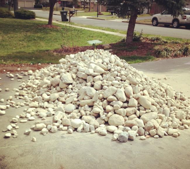 Rock for backyard
