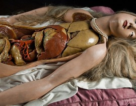 Disemboweled Beauty&#8230;<br/>The 18th Century <br/>Anatomical Venus