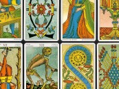 The Empress and Death <br/>Antique Tarot Cards