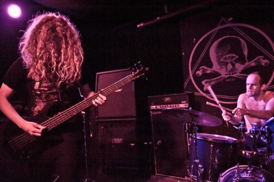 Rekevics performing with Fell Voices at Saint Vitus (photo by Fred Pessaro)