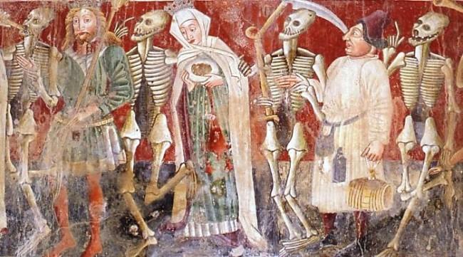 Danse Macabre Italian fresco