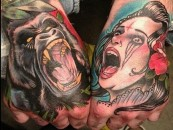Ink & Bone…<br/>Rad Hand Tattoos!