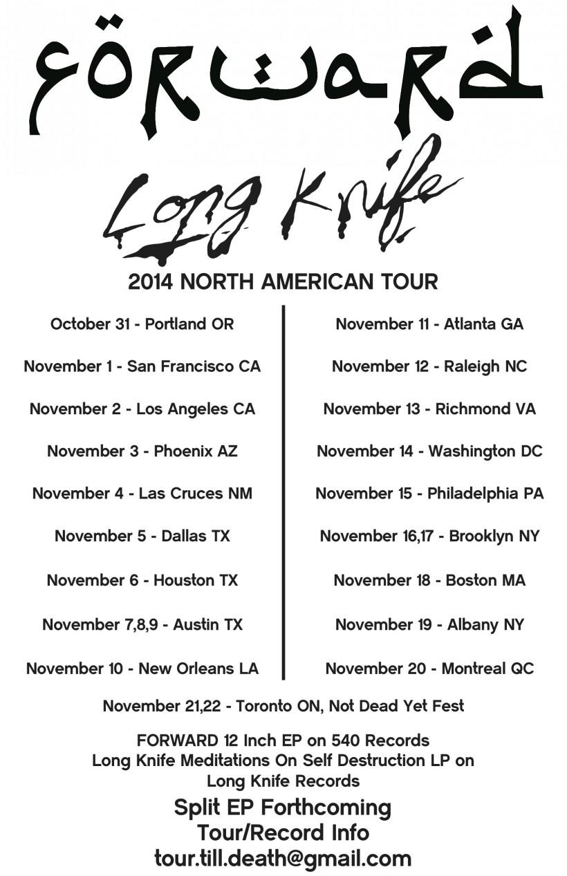 FORWARD knife tour flyer 11x17
