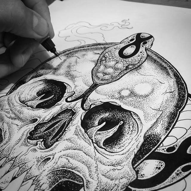 Jimbob Isaac While Drawing (CVLT Nation) (1)