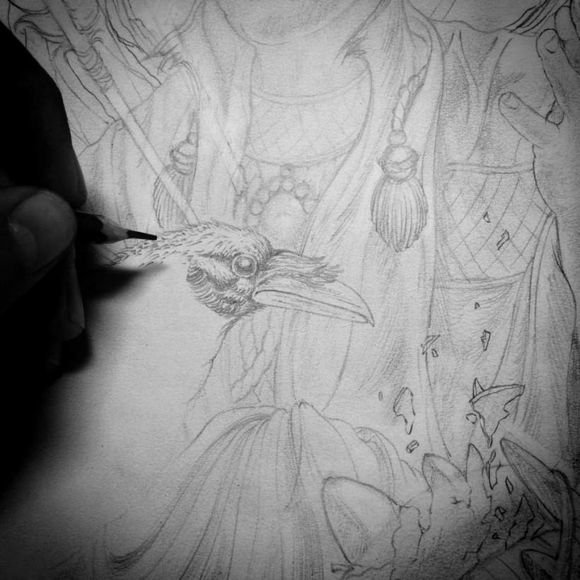 Jimbob Isaac While Drawing (CVLT Nation)