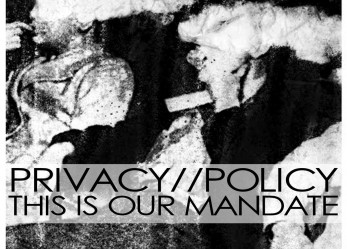"""Spot on Post-Punk! <br/> Privacy//Policy """"THIS IS OUR MANDATE"""""""