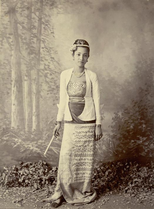 Burmese Lady - Full Length Studio Portrait 1895