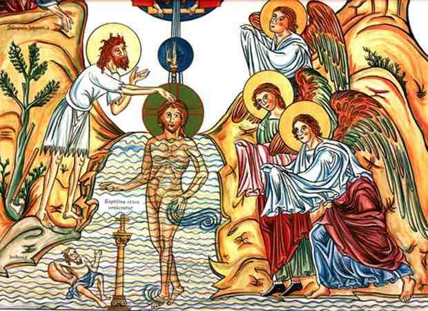 Hortus-deliciarum-Baptism-of-Jesus
