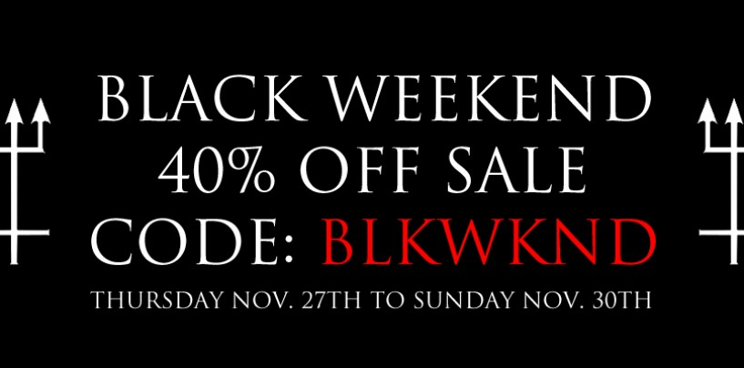 The Black Weekend Starts Now in the CVLT Nation Store…