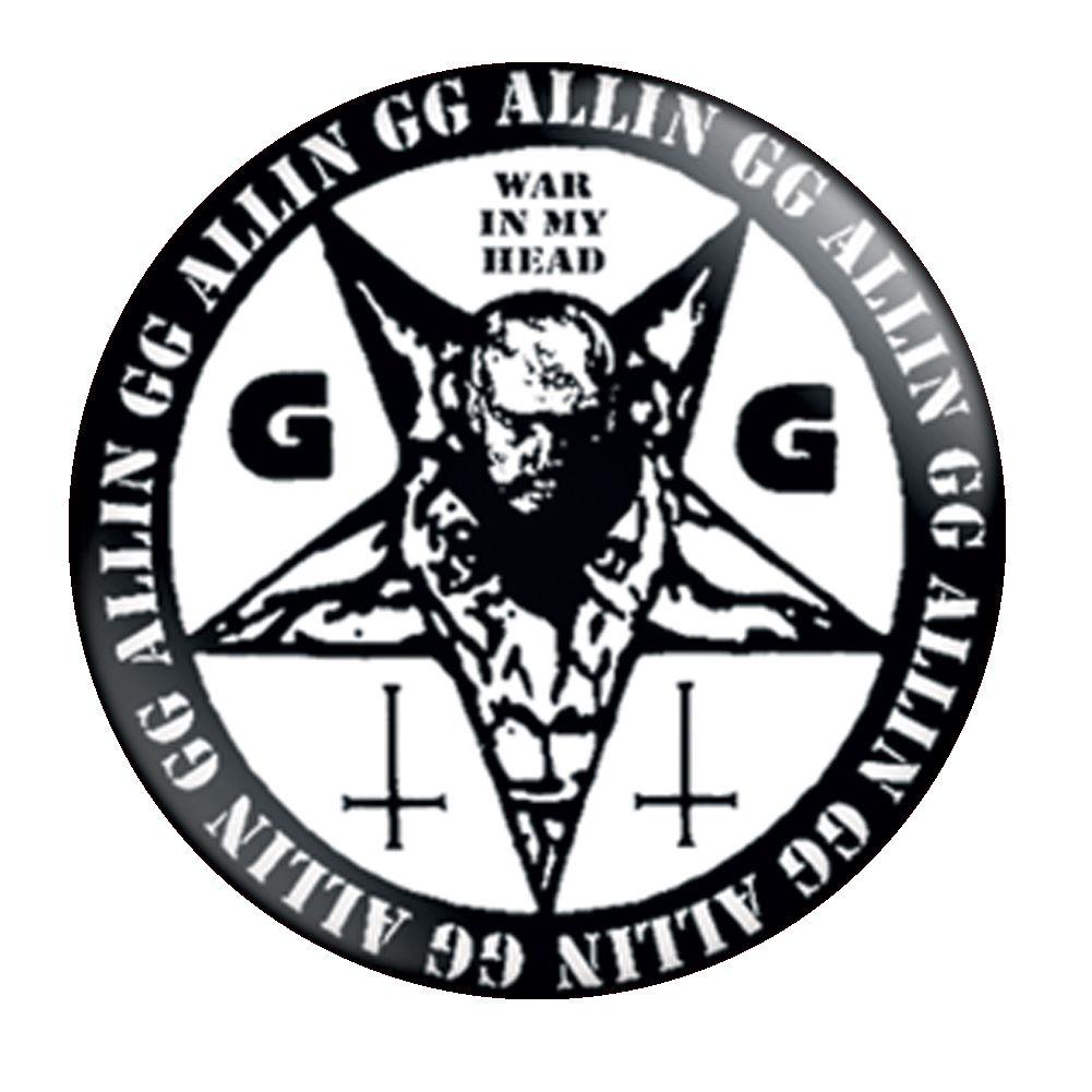 Gg allin war in my head button b32