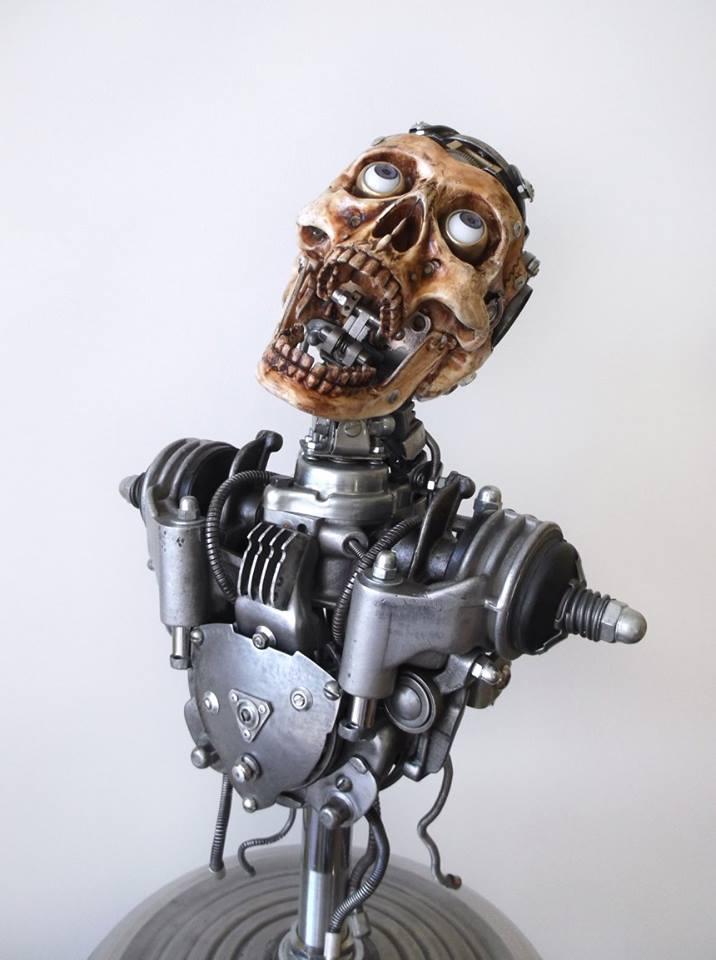 flesh metal u2026 igor verniy u2019s cyborg skulls