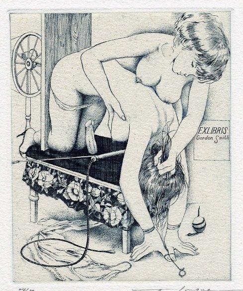 Erotic ex libris alphonse inoue - 2 4
