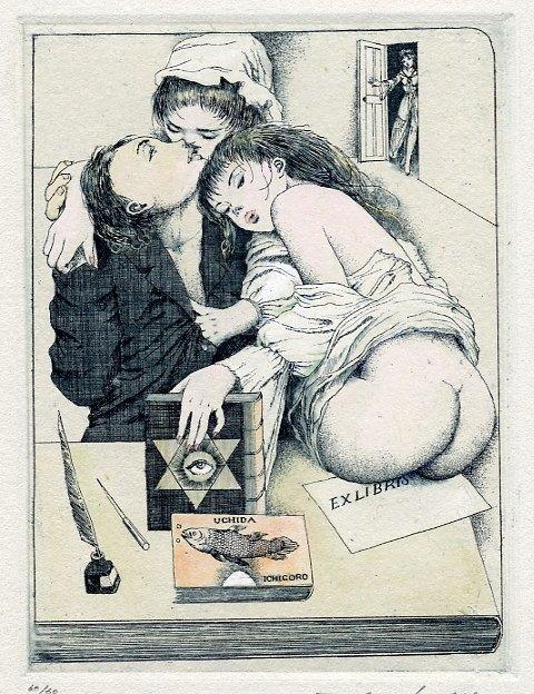 Erotic ex libris alphonse inoue - 2 9