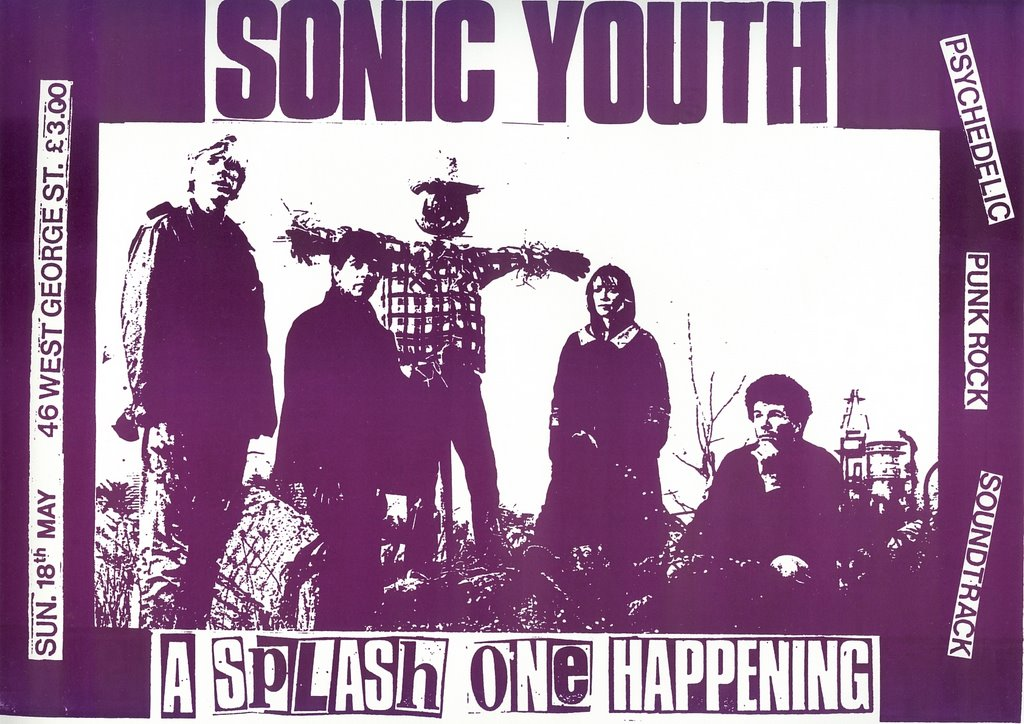 Splash One Happening - Sonic Youth Flyer