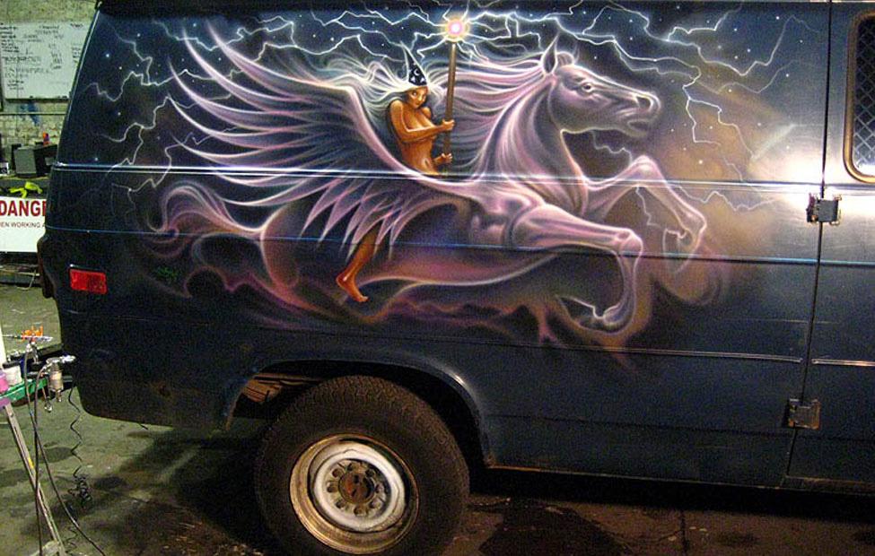 Magic Carpet Ride 70s Airbrushed Vans