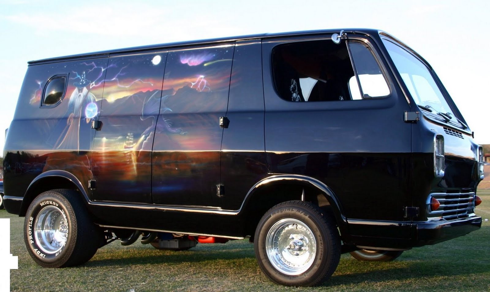 Magic Carpet Ride... 70\'s Airbrushed Vans -