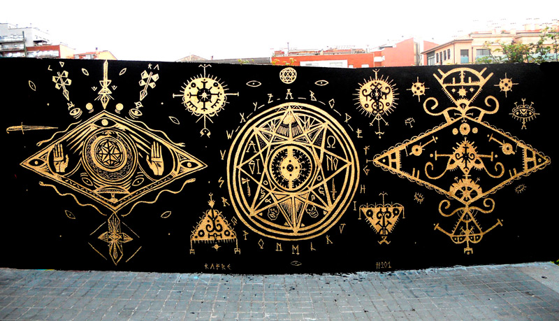 the occult  u0026 alchemy u2026 expressed with street art