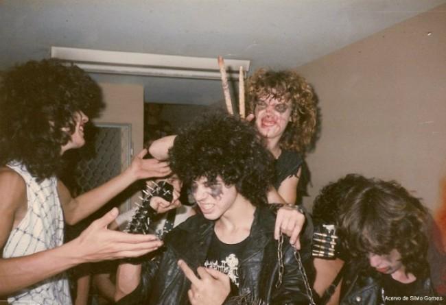 Sepultura around 1985 (Photo by Silvio Gomes)