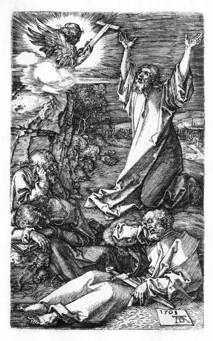 Dürer,_Kupferstichpassion_02,_Am_Ölberg