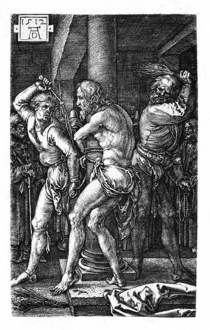 Dürer,_Kupferstichpassion_06,_Geißelung