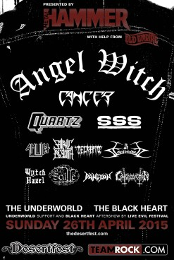 Attn UK Cvlt: Last DESERTFEST Giveaway!! Sunday Metal Hammer Stage!!