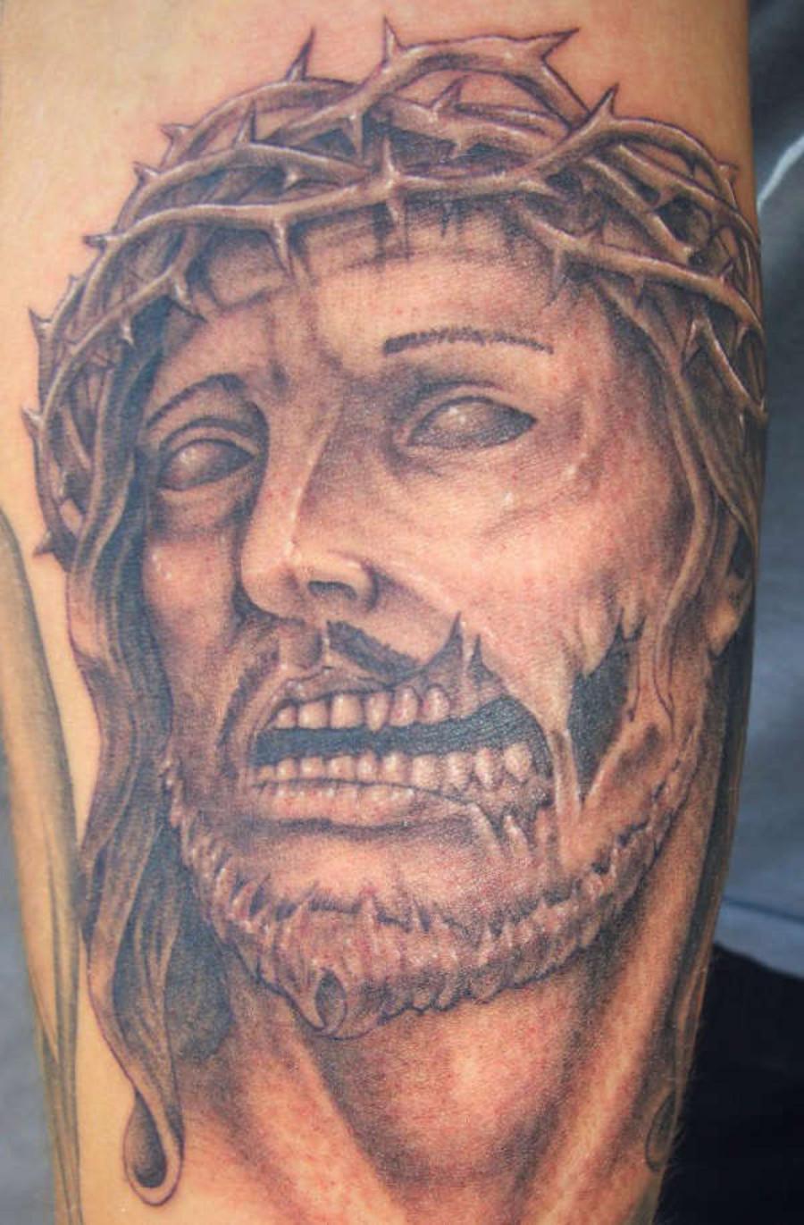 Eat my flesh zombie jesus tattoos for Tattoo of jesus