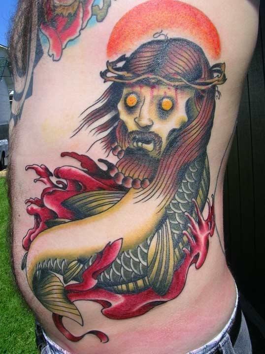 zombie_jesus_fish_tattoo