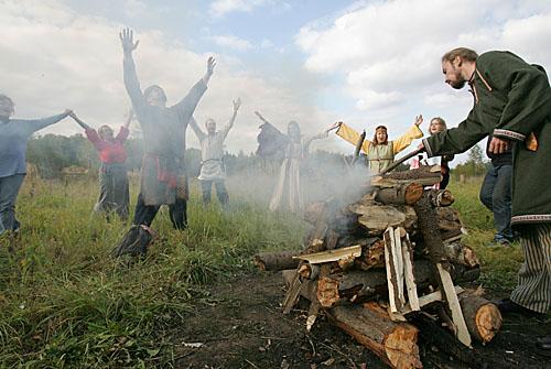 Heathens. Stepanovskoye, 30 km from Moscow, Russia. September 24, 2005.