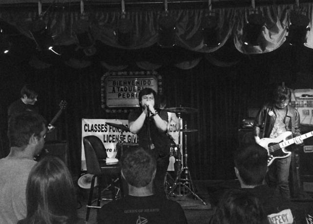 Slimy Member's first show at Taqueria Pedritos in Dallas.