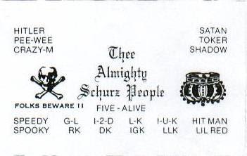 ALMIGHTY SCHURZ PEOPLE