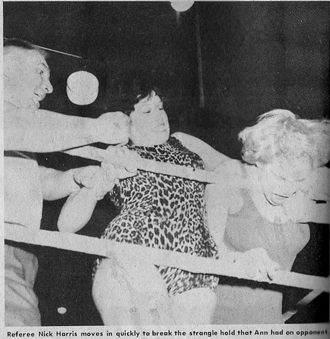 Ann Casey chokes a blonde