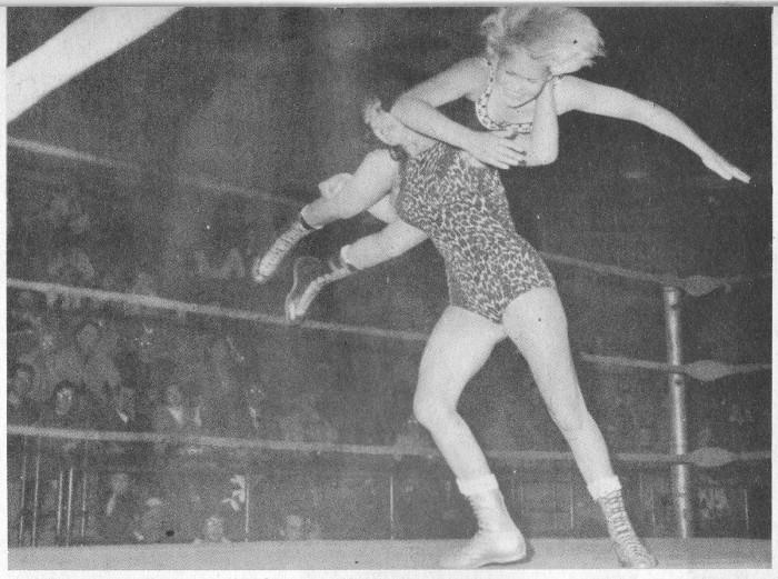 Ann Casey spins Brenda Scott