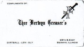 BERWYN GREASERS