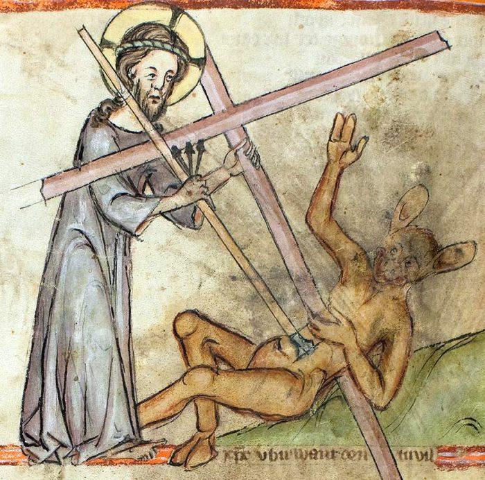 Speculum-Humanae-Salvationis-Germany-14th-century-Karlsruhe-Badische-Landesbibliothek-Cod.-3378-p.-96-