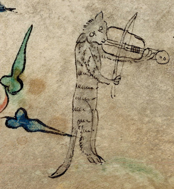 THE-CAT-THE-FIDDLE-Book-of-Hours-England-1320-1330.-BL-Harley-6563-fol.-40r