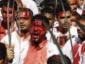 NSFW: Blood-Drenched Religious Festival Sees Boys Slice Themselves With Machetes