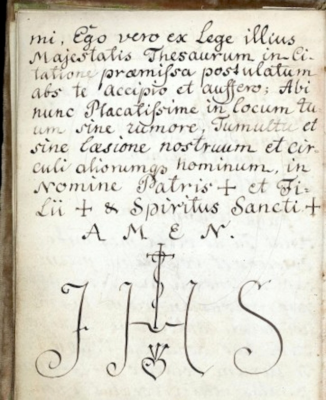 L0040811 Page of text from Cyprianus, 18th C Credit: Wellcome Library, London. Wellcome Images images@wellcome.ac.uk http://images.wellcome.ac.uk Page of text in Latin from Cyprianus, 18th century manuscript. Cyprianus is also known as the Black Book, and is the textbook of the Black School at Wittenburg, the book from which a witch or sorceror gets his spells. The Black School at Wittenburg was purportedly a place in Germany where one went to learn the black arts. Pen and watercolour Late 18th century By: M L CyprianusCyprianus, M. L. Clavis Inferni sive magia alba et nigra approbata Metratona. Published: - Copyrighted work available under Creative Commons by-nc 2.0 UK, see http://images.wellcome.ac.uk/indexplus/page/Prices.html