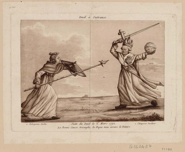 A-caricture-showing-a-duel-between-Robespierre-and-the-moderates-1792-via-French-Revolution-Digital-Archive