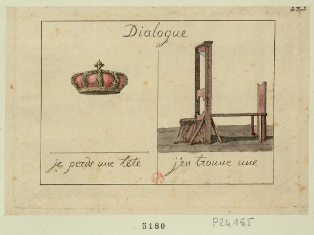 """Crown-""""I-lost-a-head""""-Guillotine-""""I've-found-one""""-1793-via-French-Revolution-Digital-Archive"""