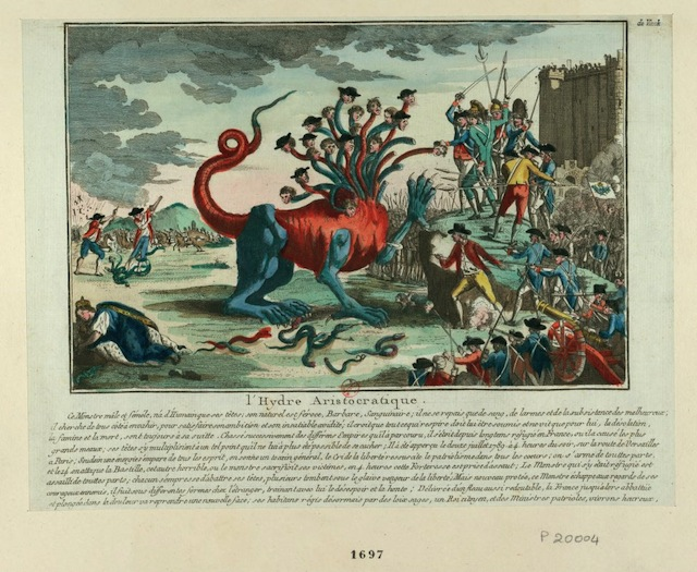 """The-""""aristrocratic-hydre""""-against-the-people-with-the-Guillotine-in-the-background-1789-via-French-Revolution-Digital-Archive"""