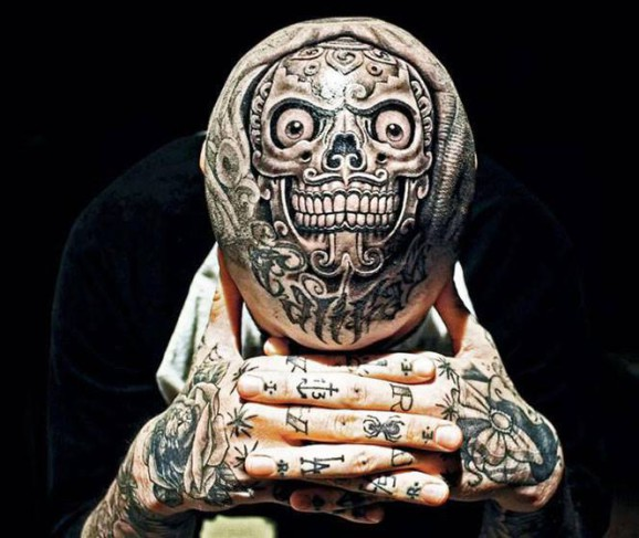 Fuck Yeah Head Tattoos And The Skulls That Have Them