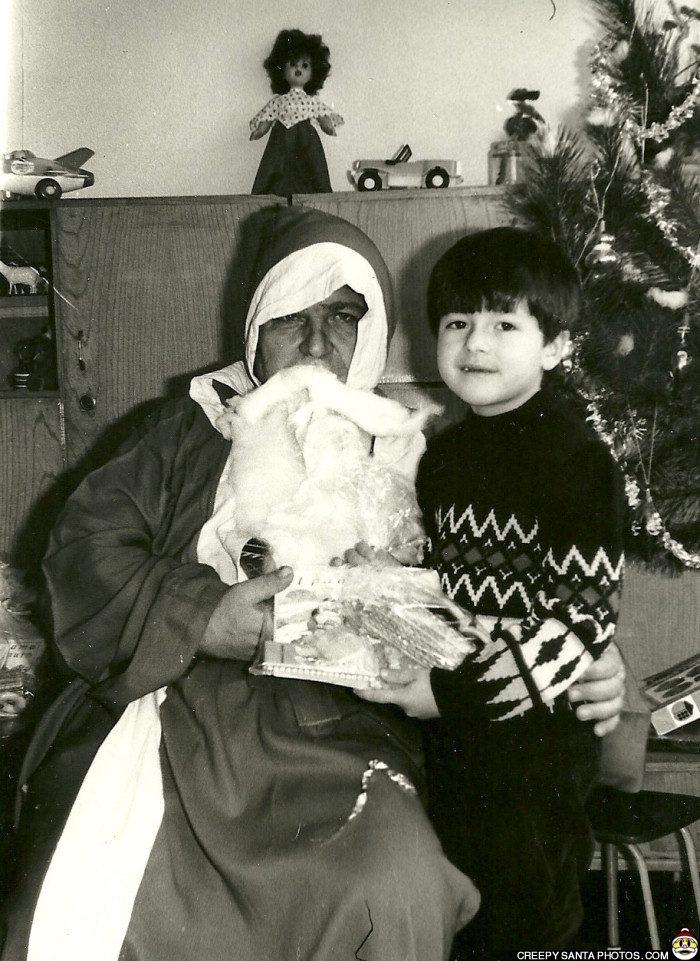black-and-white-santa