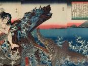 Samurai Vs. Crocodile… The Woodblock Prints of Utagawa Kuniyoshi