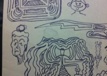 Anton LaVey's Sketches on Ebay